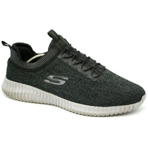 Skechers Mens Elite Flex Hartnell Gray Sneakers